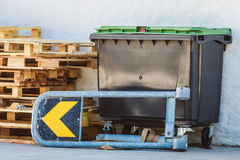 Heavy industrial dumpster in factory Stock Photo