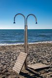 An Outdoor Shower in the Resort Town of Viareggio royalty free stock image