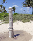 Outdoor Shower on a Fort Lauderdale Beach Royalty Free Stock Photos