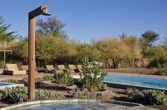 Outdoor Shower Horizontal Stock Photo