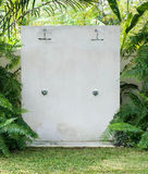 Outdoor shower at swimming pool Royalty Free Stock Images