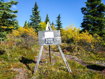 Outdoor Sign on Walking Trail in Alaska Stock Photos