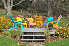 Outdoor sitting area. Image of an outdoor seating area stock photos