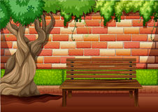 Outdoor sitting area on the walkway. Illustration Royalty Free Stock Photography