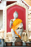 Outdoor sitting Buddha at biggest Pagoda in Thailand . Royalty Free Stock Photography