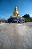 Outdoor sitting Buddha on top of Khao Tao temple near Khao Tao beach. Stock Image