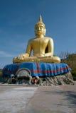 Outdoor sitting Buddha on top of Kho Tao temple near Khao Tao beach. Royalty Free Stock Photography