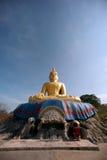 Outdoor sitting Buddha on top of Kho Tao temple near Khao Tao beach. Royalty Free Stock Image