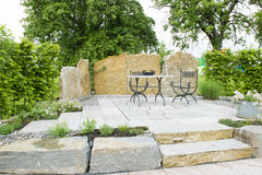 Outdoor sitting place Stock Photo