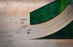 Outdoor skate park, rails, ramps stock photos