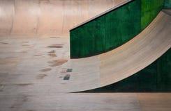Outdoor skate park, rails, ramps Stock Photos