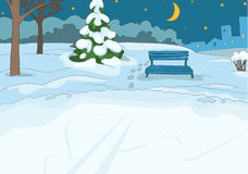 Outdoor Skating Rink. Cartoon Background. Vector Illustration EPS 10 Royalty Free Stock Photography