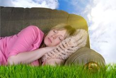 Outdoor sleeping Stock Photos