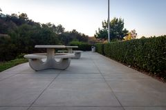Outdoor Smoking area in Corporate Zone royalty free stock photos