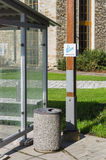 Outdoor smoking area zone Royalty Free Stock Image