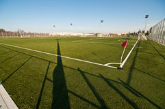 Outdoor Soccer Field. An outdoor soccer field with artificial turf in a public park Royalty Free Stock Images