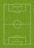 Outdoor soccer line and green grass field background. For the mockup Stock Photography
