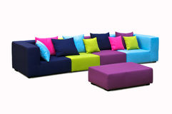 Outdoor sofa in many colours Royalty Free Stock Photos
