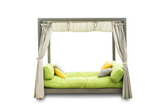 Outdoor sofa for relaxing on a white background. Outdoor sofa for relaxing on a white background,Clipping Path Royalty Free Stock Photo
