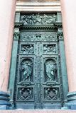 Outdoor southern doors of Saint Isaac's Cathedral. (Isaakievskiy Sobor) in Saint Petersburg city Stock Photography