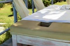 Outdoor spa κρεβάτια στοκ εικόνα