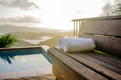 Outdoor Spa in Caribbean Stock Photos