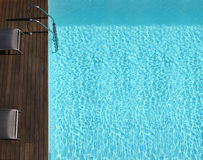 Outdoor space with a pool Stock Images