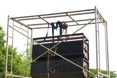 Outdoor speakers Stock Photos