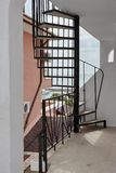 Outdoor Spiral Staircase Leading To The Loft And Seascape Royalty Free Stock Photo