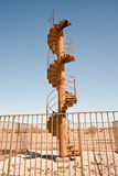 Outdoor spiral staircase leading to the sky Stock Photos