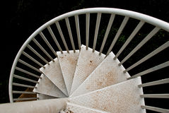 Outdoor spiral staircases Royalty Free Stock Image