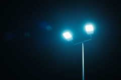 Outdoor sport court or stadium lights Royalty Free Stock Photography