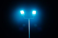 Outdoor sport court or stadium lights Stock Images