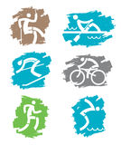 Outdoor sports grunge icons Royalty Free Stock Image