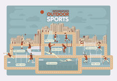 Outdoor sports info graphics Stock Image