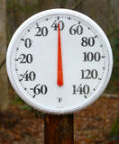 Outdoor spring thermometer Royalty Free Stock Image