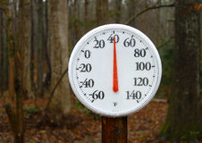 Outdoor spring thermometer Royalty Free Stock Photos