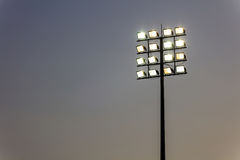 Outdoor stadium lights tower stock photography