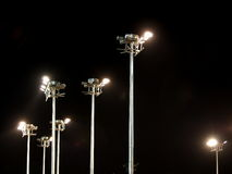 Outdoor stadium spotlights Royalty Free Stock Image