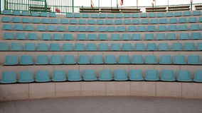 Outdoor stage with empty seats Royalty Free Stock Photography