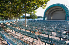 Outdoor stage and seating Royalty Free Stock Image