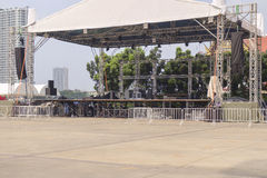 Outdoor stages. Stock Image