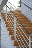 Outdoor stair. The wood outdoor stair in yellow Stock Photography