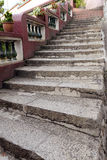 Outdoor stair in pattern Stock Photo