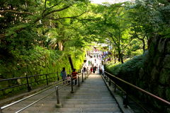 Garden Staircase at Kiyomizu Dera Stock Photography