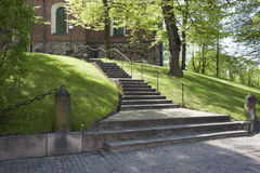 Outdoor Stairs Of Main Cathedral of Finland Royalty Free Stock Images