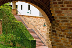 Outdoor stairway on college campus Royalty Free Stock Photos