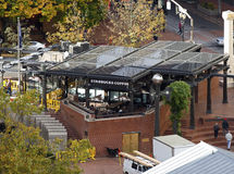 Outdoor Starbucks in Portland, Oregon Royalty Free Stock Image