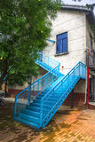 Outdoor steel staircase Royalty Free Stock Image