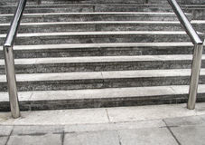 Outdoor steps and railing Stock Images